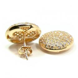 ca73f0706b60e Brinco em ouro 18k feminino com zirconia Ouro Amarelo na Monte Blanco